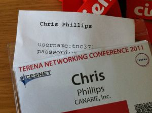 TERENA Badge with temporary userid